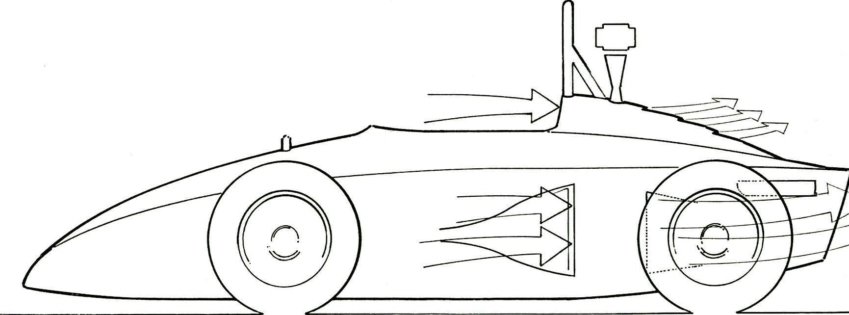 Concept drawing of 1987 car